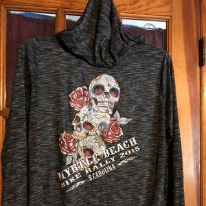 Jackets & Blazers - Bikers Pride Myrtle Beach Skull Hoodie